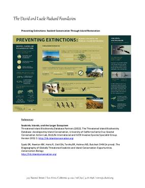 Preventing Extinctions: Seabird Conservation Through Island Restoration