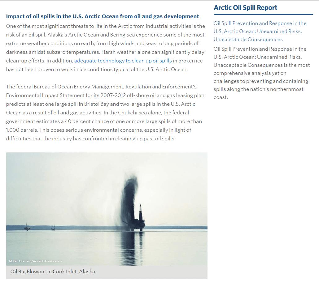 Ocean Oil Spills