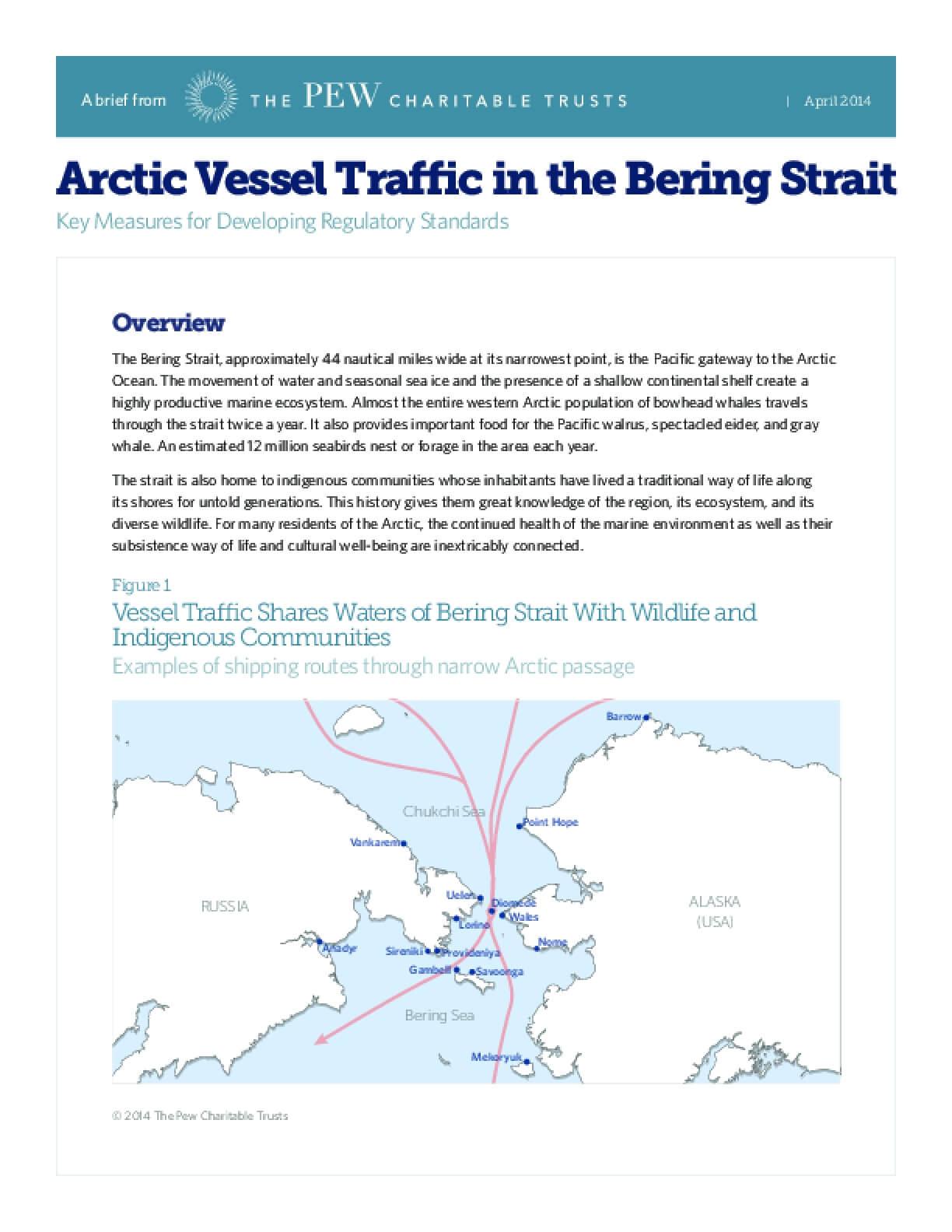 Arctic Vessel Traffic in the Bering Strait
