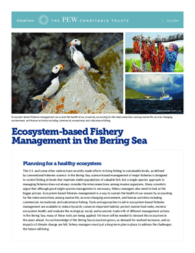 Ecosystem-based Fishery Management in the Bering Sea