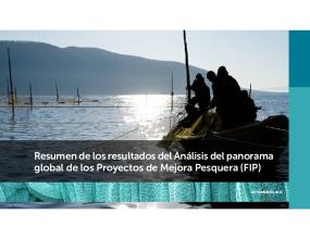 Resumen de los resultados del Análisis del panorama global de los Proyectos de Mejora Pesquera (FIP)