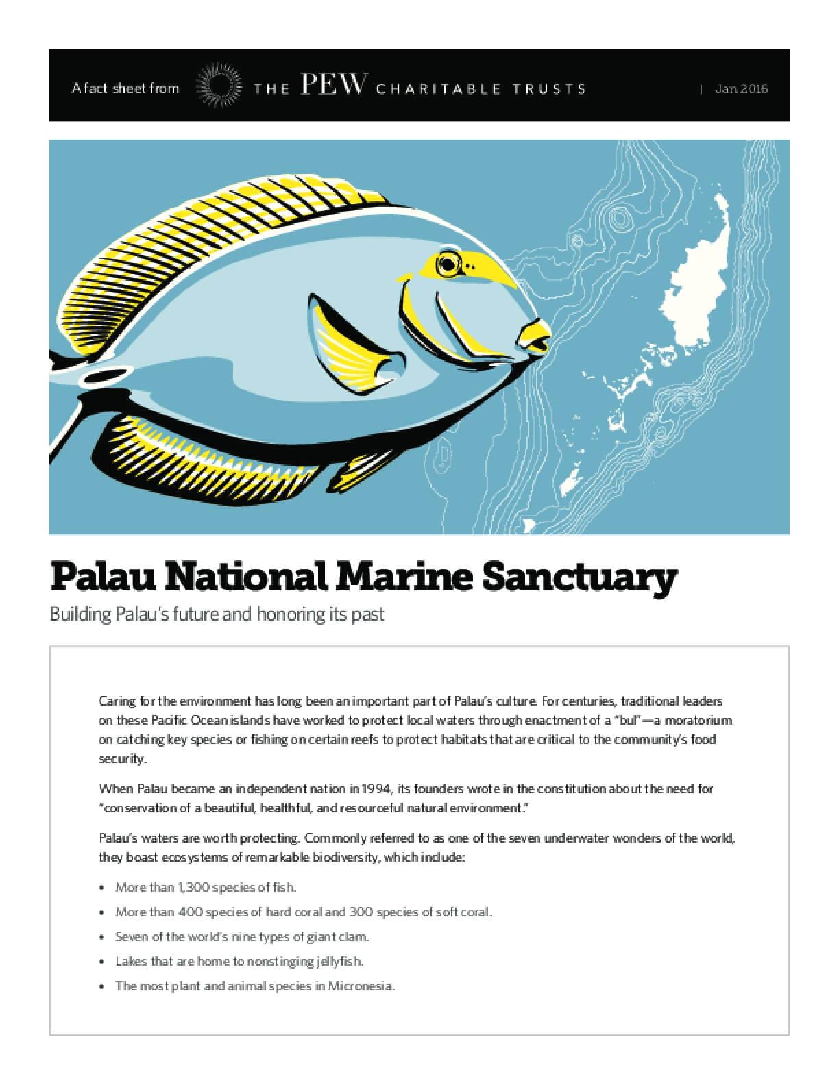 Palau National Marine Sanctuary: Building Palau's Future and Honoring Its Past
