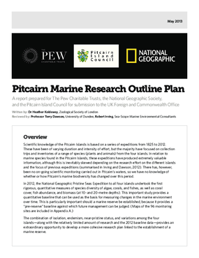 Pitcairn Marine Research Outline Plan