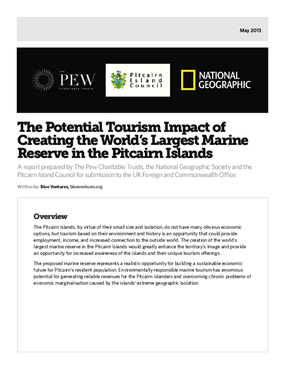 The Potential Tourism Impact of Creating the World's Largest Marine Reserve in the Pitcairn Islands