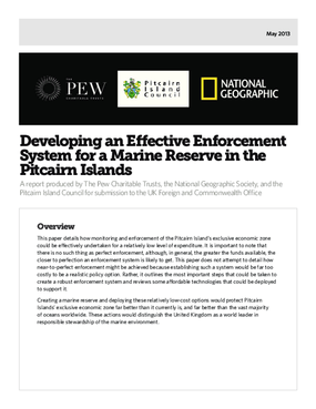 Developing an Effective Enforcement System for a Marine Reserve in the Pitcairn Islands