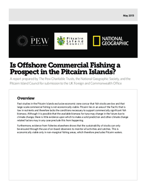 Is Offshore Commercial Fishing a Prospect in the Pitcairn Islands?