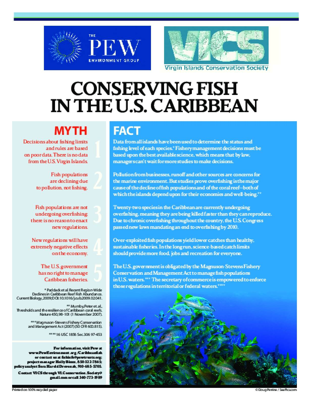 Conserving Fish in the U.S. Caribbean