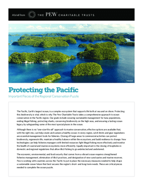 Protecting the Pacific Important Pieces of the Regional Conservation Puzzle