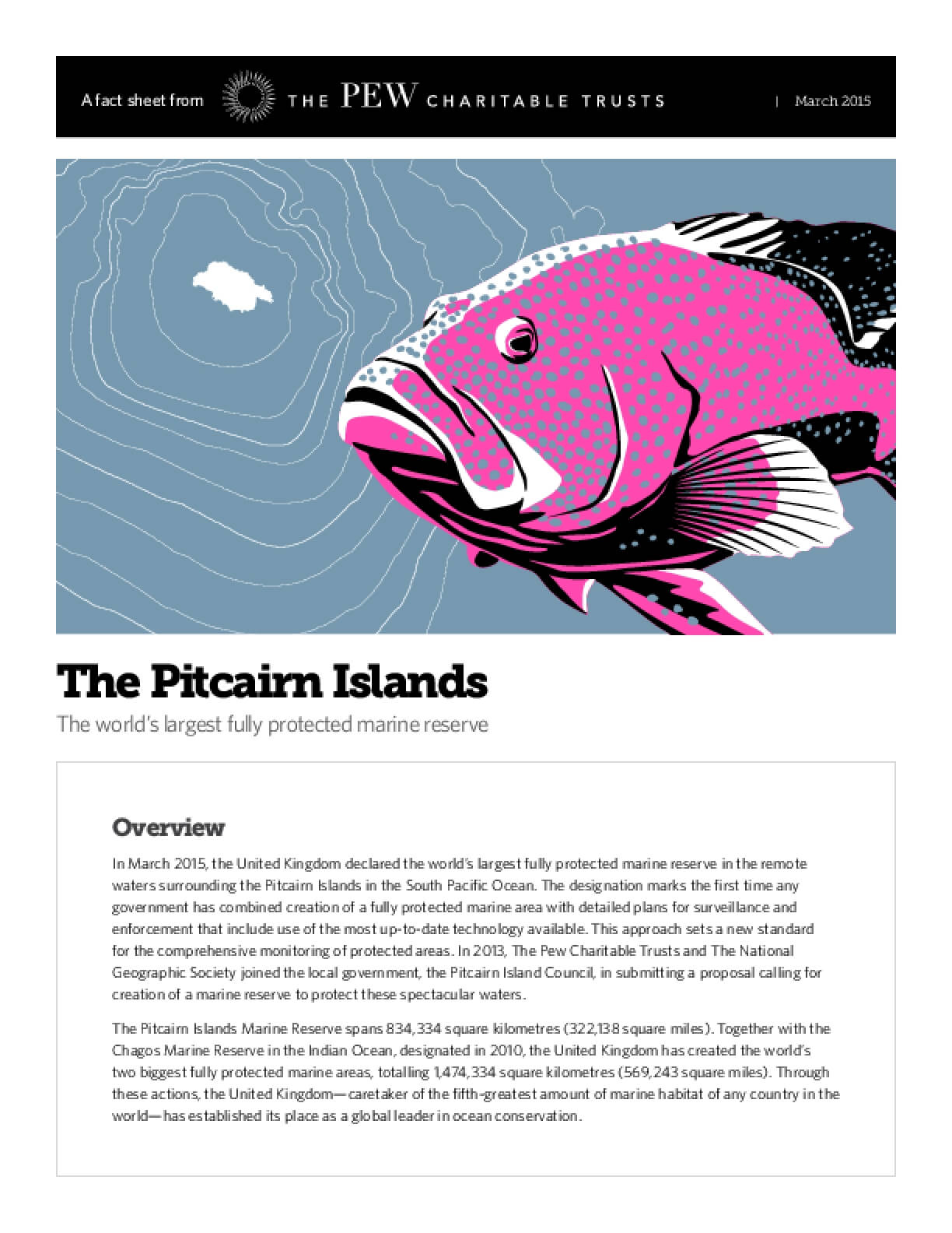 The Pitcairn Islands The world's Largest Fully Protected Marine Reserve
