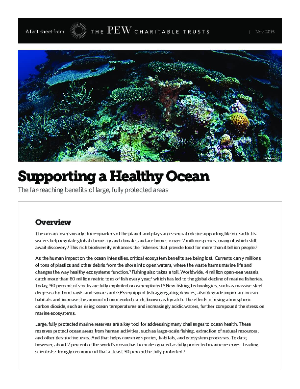 Supporting a Healthy Ocean: The Far-reaching Benefits of Large, Fully Protected Areas