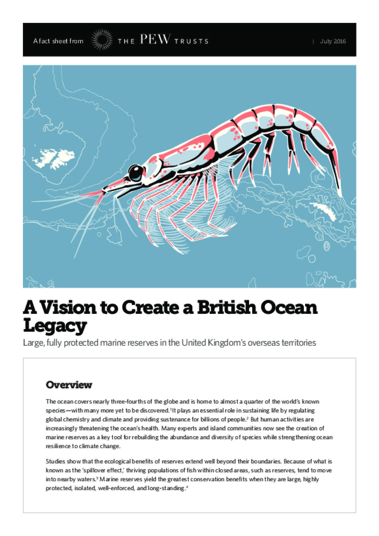 A Vision to Create a British Ocean Legacy Large, Fully Protected Marine Reserves in the United Kingdom's Overseas Territories