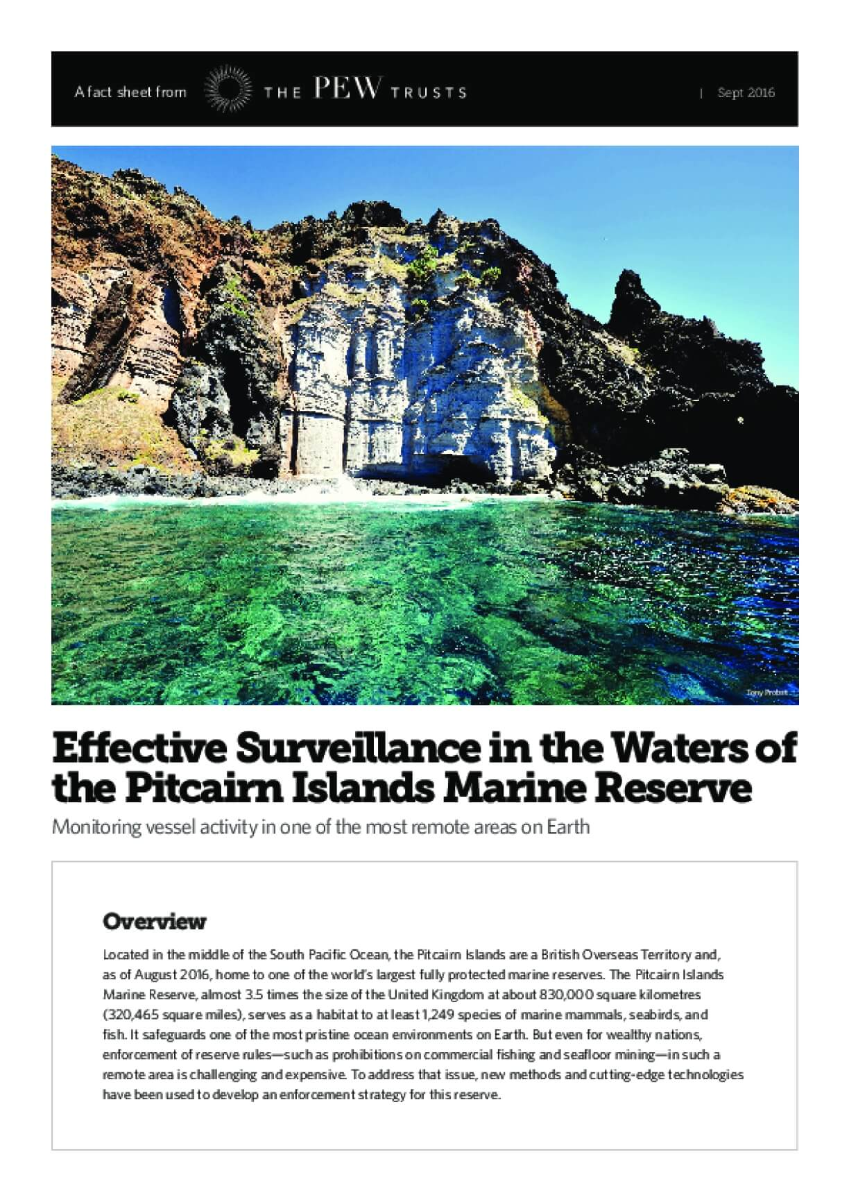 Effective Surveillance in the Waters of the Pitcairn Islands Marine Reserve
