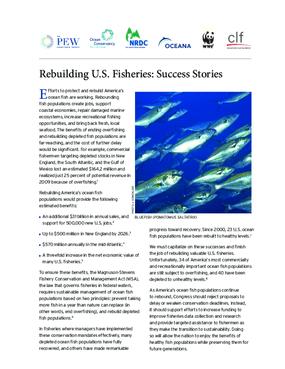 Rebuilding U.S. Fisheries: Success Stories