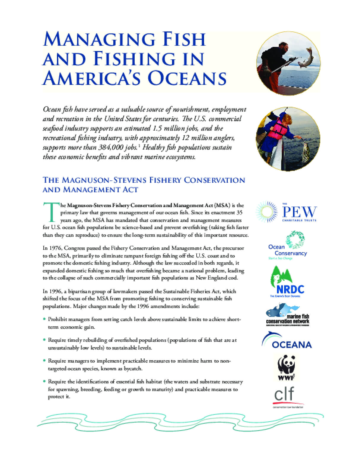 Managing Fish and Fishing in America's Oceans