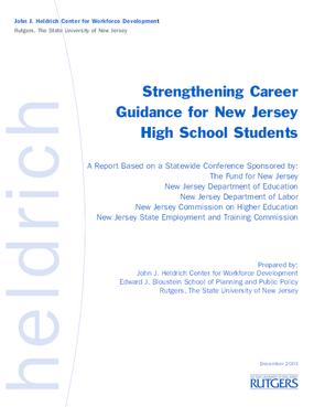 Strengthening Career Guidance for New Jersey High School Students