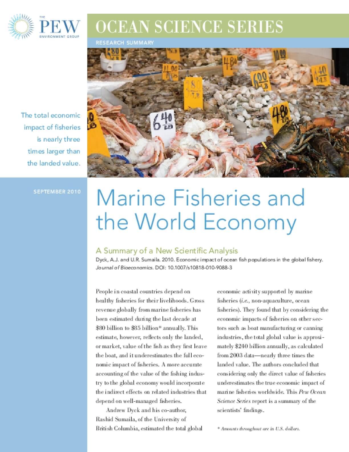 Marine Fisheries and the World Economy
