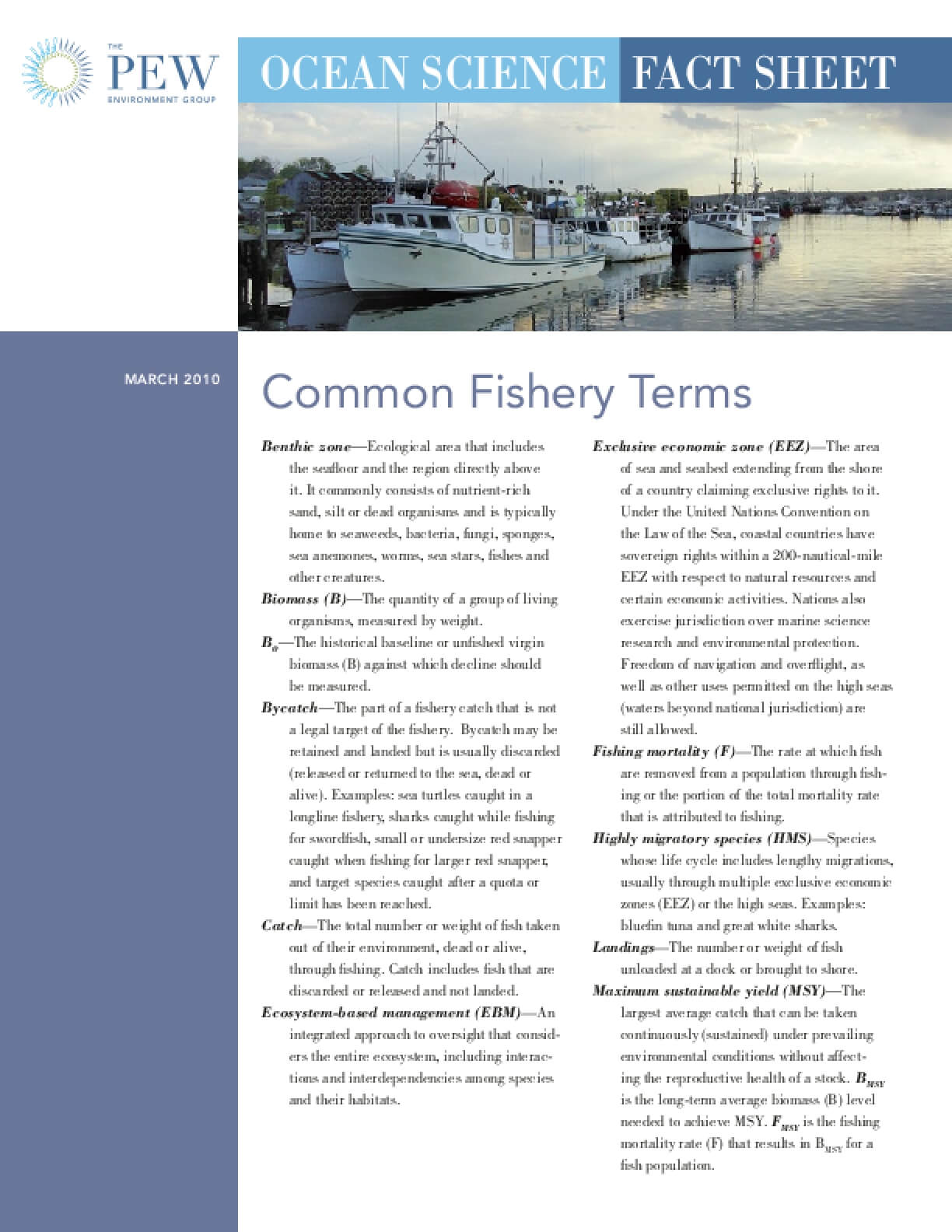 Common Fishery Terms