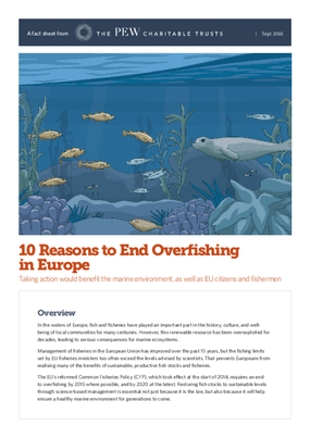 10 Reasons to End Overfishing in Europe Taking Action Would Benefit the Marine Environment, as Well as Eu Citizens and Fishermen