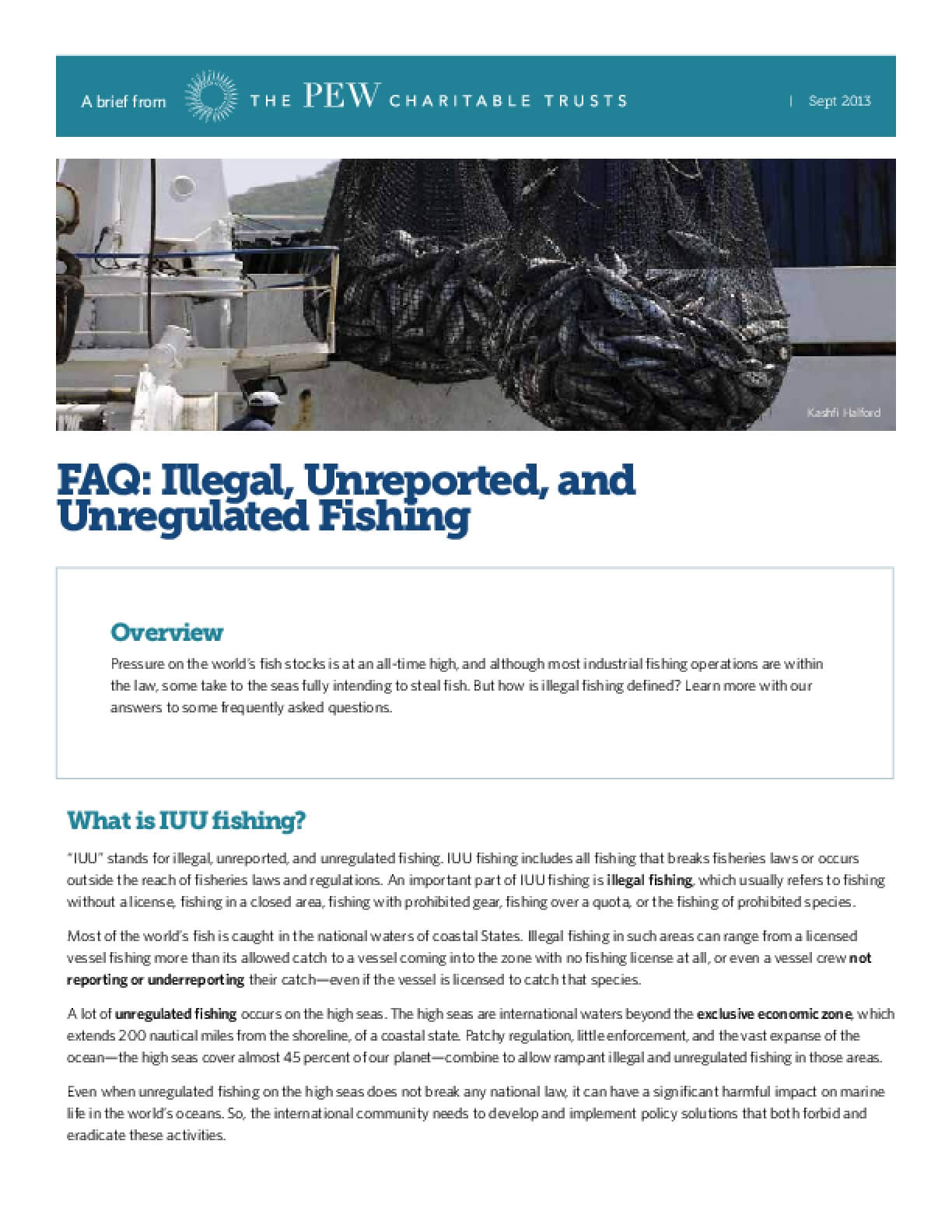 FAQ: Illegal, Unreported, and Unregulated Fishing