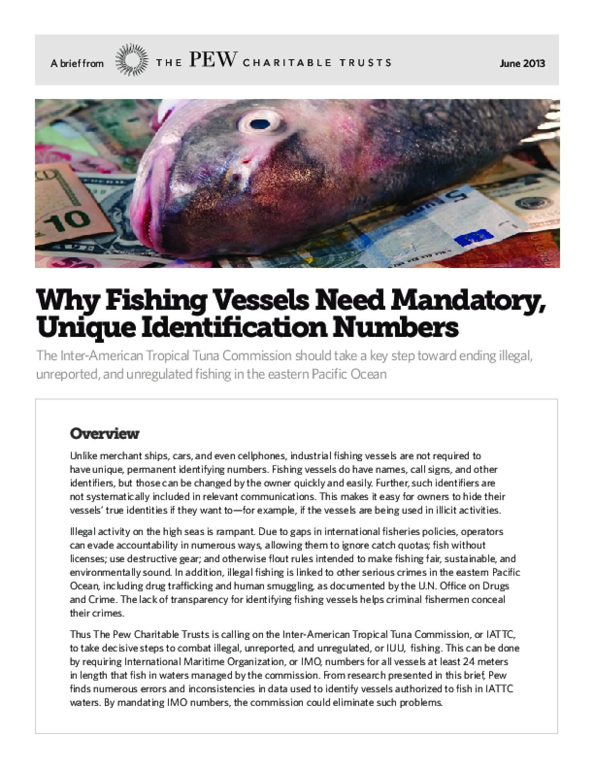 Why Fishing Vessels Need Mandatory, Unique Identification Numbers