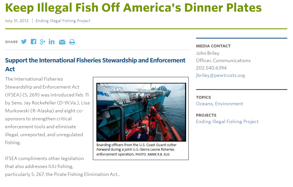 Keep Illegal Fish Off America's Dinner Plates