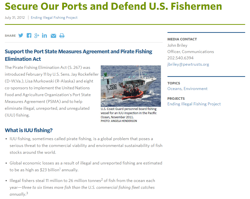 Secure Our Ports and Defend U.S. Fishermen