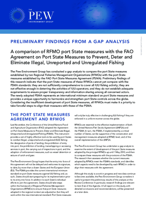 Preliminary Findings from a Gap Analysis