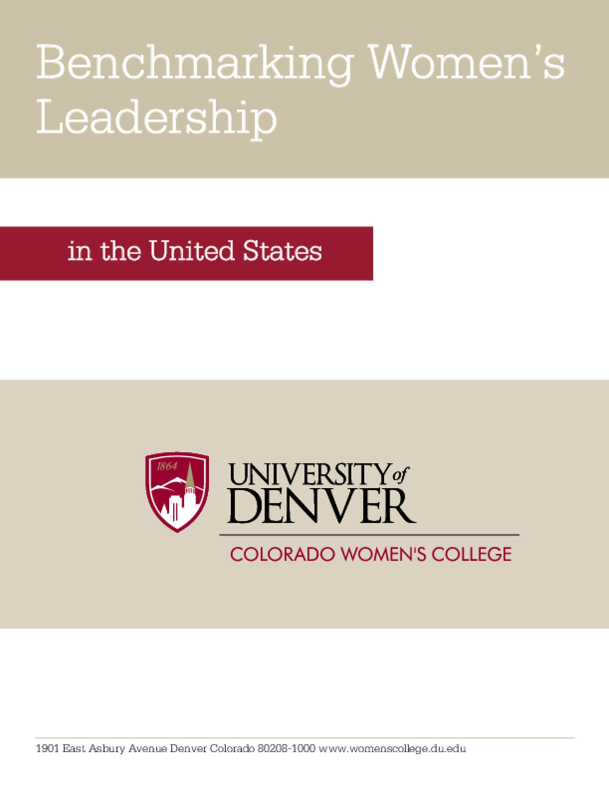 Benchmarking Women's Leadership in the United States