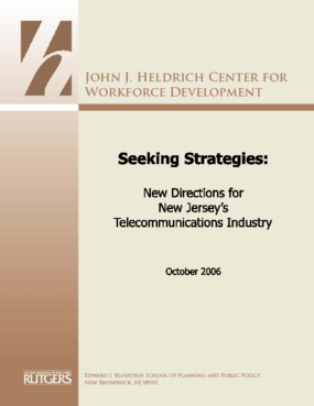 Seeking Strategies: New Directions for New Jersey's Telecommunications Industry
