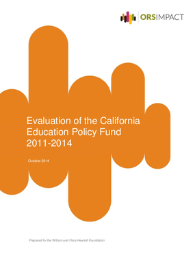 Evaluation of the California Education Policy Fund 2011-2014