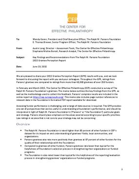 2015 Grantee Perception Report