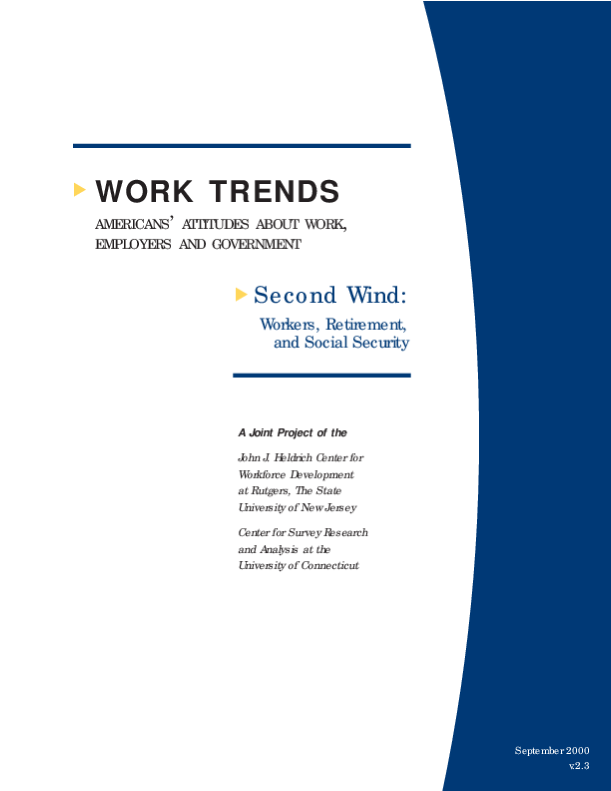 Second Wind: Workers, Retirement, and Social Security
