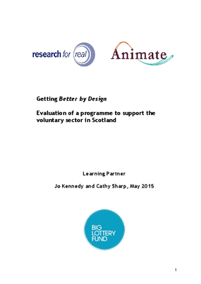 Getting Better by Design: Evaluation of a programme to support the voluntary sector in Scotland