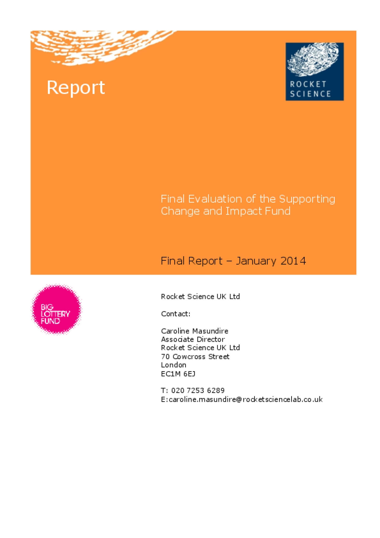 Final Evaluation of the Supporting Change and Impact Fund