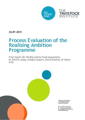 Process Evaluation of the Realising Ambition Programme