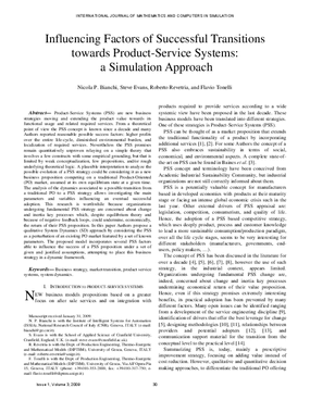 Influencing Factors of Successful Transitions towards Product-Service Systems: A Simulation Approach