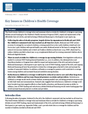 Key Issues in Children's Health Coverage