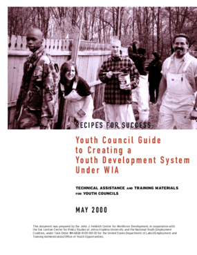 Recipes for Success: Youth Council Guide to Creating a Youth Development System Under WIA