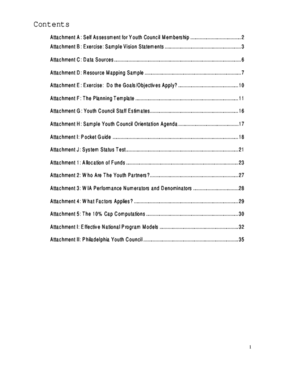Recipes for Success: Worksheets/Attachments