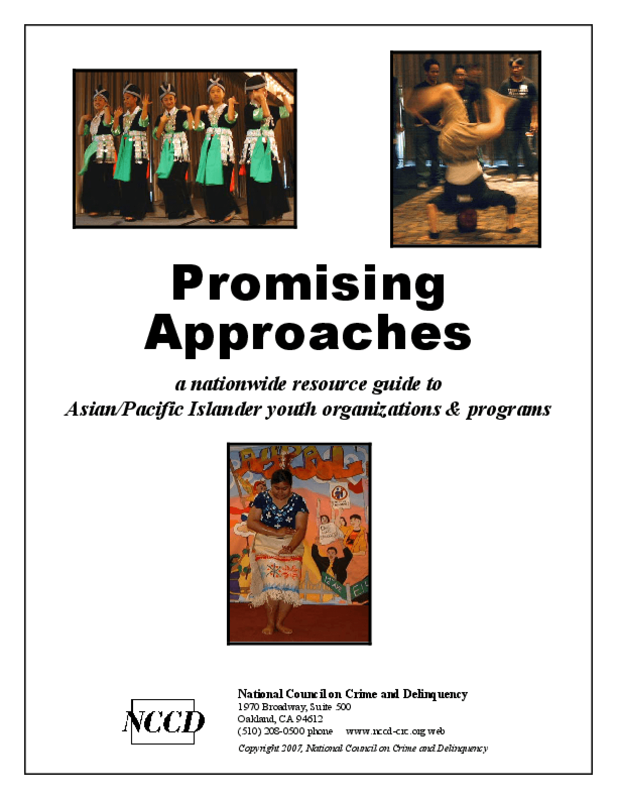 Promising Approaches: A Nationwide Resource Guide to Asian/Pacific Islander Youth Organizations and Programs