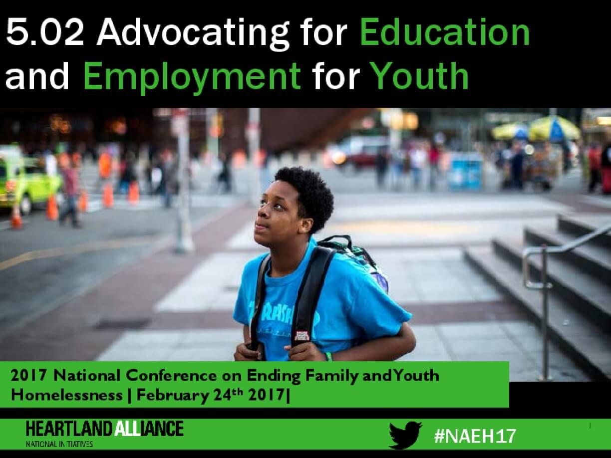 5.02 Advocating for Education and Employment for Youth