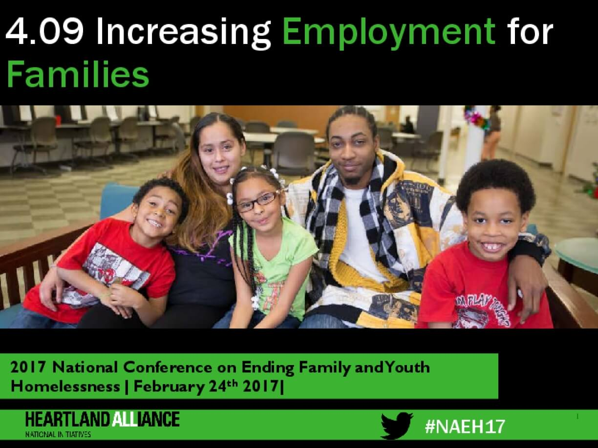 4.09 Increasing Employment for Families