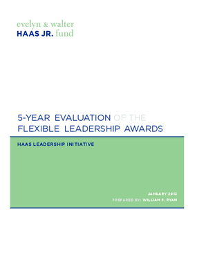 5-year Evaluation of the Flexible Leadership Awards
