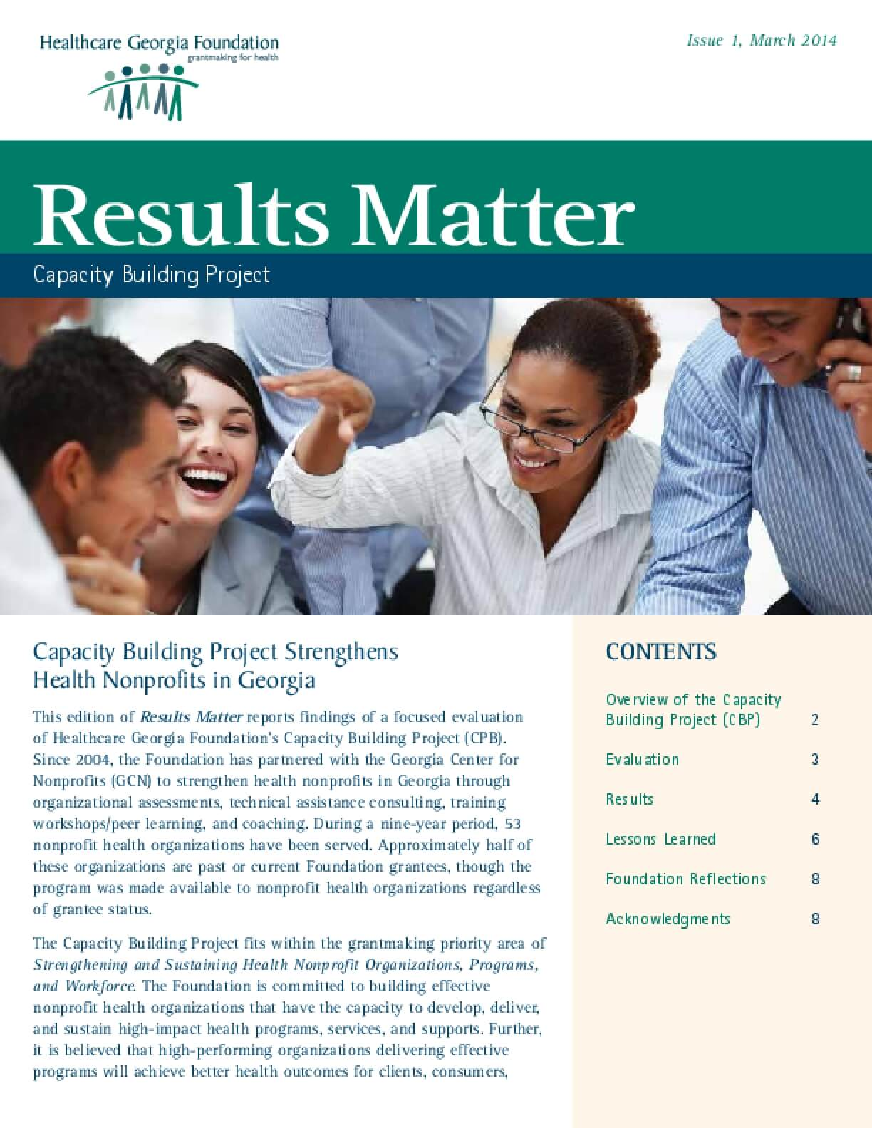 Results Matter: Capacity Building Project
