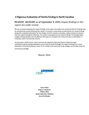 A Rigorous Evaluation of Family Finding in North Carolina