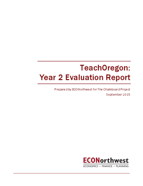 TeachOregon: Year 2 Evaluation Report