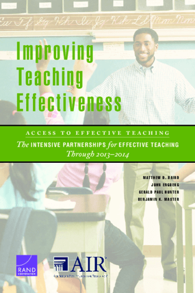 Improving Teaching Effectiveness: Access to Effective Teaching, The Intensive Partnerships for Effective Teaching Through 2013–2014