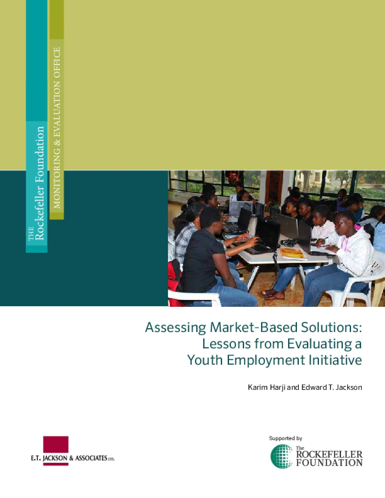 Assessing Market-Based Solutions: Lessons from Evaluating a Youth Employment Initiative