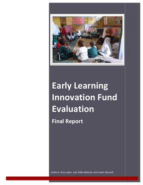 Early Learning Innovation Fund Evaluation Final Report