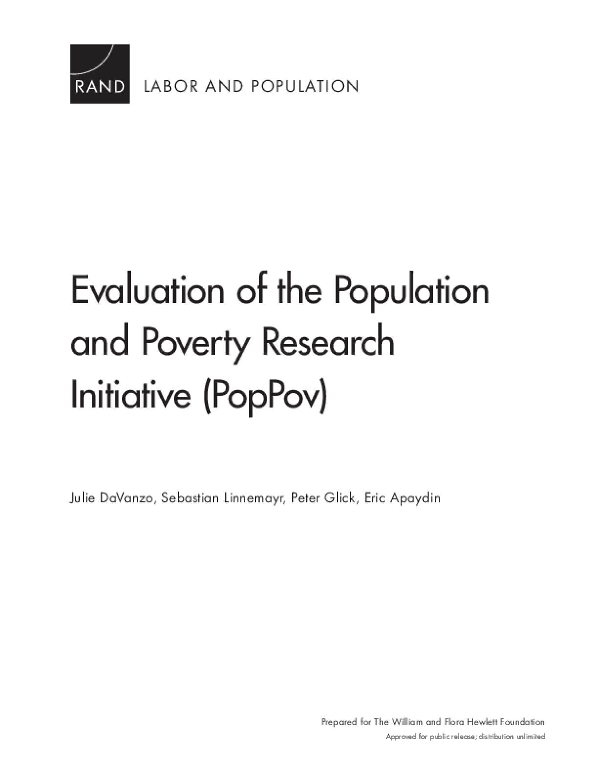 Evaluation of the Population and Poverty Research Initiative (PopPov)
